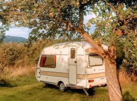 Vintage Caravan in The Black Mountains, Брекон (рядом с городом Velindre)