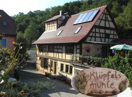 Ferienwohnung Klüpfelsmühle, Schonungen (Mainberg yakınında)