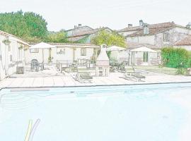 BonAbri Vacances Holidayhouse, Blanzaguet-Saint-Cybard (рядом с городом Gardes-le-Pontaroux)