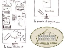 Les Lodges du Château près La Rochelle, Saint-Christophe (рядом с городом Bouhet)