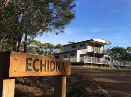 Echidna on Bruny, Barnes Bay (Dennes Point yakınında)
