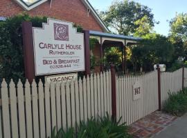 Carlyle House B&B, Rutherglen (Springhurst yakınında)