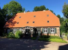 Gästezimmer in altem Pfarrhaus, Badendiek