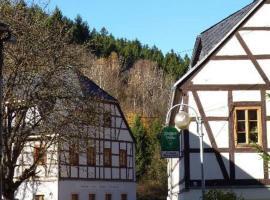 Ferienwohnung Himmelmühle, Thermalbad Wiesenbad (Drebach yakınında)