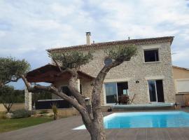 Villa avec piscine, Allegre Les Fumades (рядом с городом Navacelles)