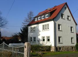 Ferienwohnung Schwanenteichblick, Mühlhausen (Oberdorla yakınında)