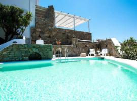 Unique Luxury Modern Maisonette in Mykonos with a pool, Калафатис (рядом с городом Merchia Beach)