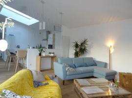 Chambre privée dans maison d'architecte, Sotteville-lès-Rouen (рядом с городом Ле-Мениль-Энар)
