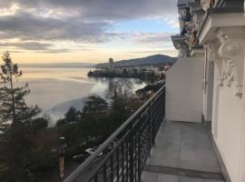 Montreux Apartment with lake view, Montreux (Caux yakınında)