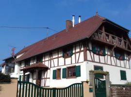 """gîte rural """"la bergerie"""", Friedolsheim (рядом с городом Kleingoeft)"""