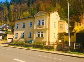 Apartmenthaus Elbblick, Bad Schandau (Schmilka yakınında)