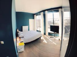 Chambre privée dans loft avec vue sur l'Atomium, Bruxelles