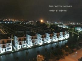 TrangOz' BnB - Balcony Bar Suites view to Venice of Hanoi