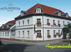 Hotel am Seetor, Ангермюнде