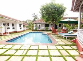 Villa with a private pool in Vagator, Goa, by GuestHouser 65662, Marna