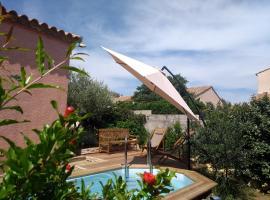 Villa au calme entre guarigue, plage, Montpellier, Le Crès (рядом с городом Jacou)