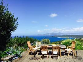 Casa Vadde Lungha superbe vue mer 9 personnes, Коти-Кьявари (рядом с городом Fuatese)
