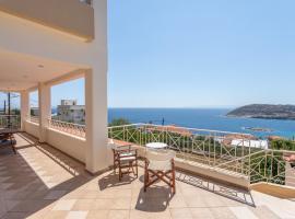 SeaView 4bdr villa with garden|Pking|Elevator, Dhaskalión
