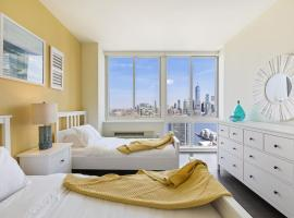 Three Bedroom Apartment with Stunning views of Statue of Liberty, WTC and Empire State