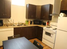 """11"""" high ceiling bright basement unit with 2 bedrooms and over 1300 sq ft"""