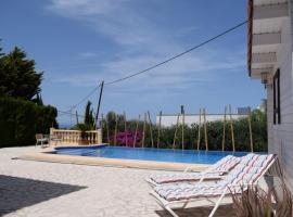 villa with 4 bedrooms in dénia, with wonderful sea view, private pool, furnis...