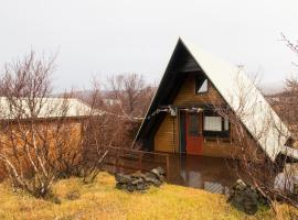 A cozy A-frame cabin in Husafell