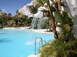 apartment with 3 bedrooms in estepona, with wonderful mountain view, pool acc...