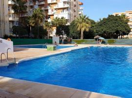 studio in benalmádena, with wonderful sea view, pool access, enclosed garden ...