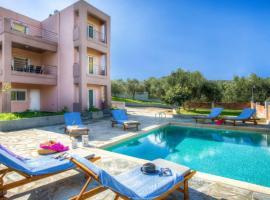 Kalyves Villa Sleeps 6 Pool Air Con WiFi