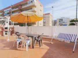 Rincon Beach With Big Terrace, BBQ and Parking