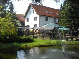 Hotel-Pension Flechsig, Hartmannsdorf bei Kirchberg. (Wolfersgrün yakınında)