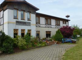Pension Moritz und Hofladen unterm Storchennest, Schwedt (Vierraden yakınında)