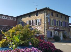 Hotel de la Place, Loyettes (рядом с городом Saint-Jean-de Niost)