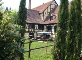 Domaine du Moulin im Elsass, Бишвиллер (рядом с городом Kurtzenhouse)