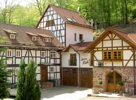 Pension Untere Mühle, Burghaun (Kruspis yakınında)