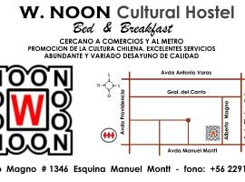 W. NooN Cultural Bed & Breakfast, Santiago (Providencia yakınında)
