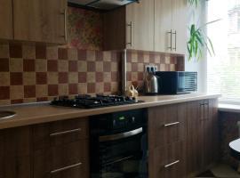 apartments on the Parkоvaya, Navapolatsk (Gamzelëvo yakınında)