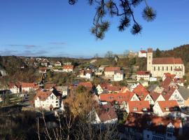 Burgweg Ferienwohnung, Veringenstadt (Inneringen-Hettingen yakınında)