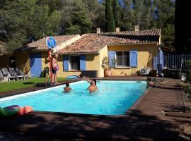 Montagnier villa de vacances, Peypin-d'Aigues (рядом с городом La Bastide-des-Jourdans)