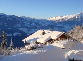 """140 m2 op het """"Alpen-zonneterras"""" in Beatenberg"""