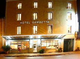 Hôtel Gambetta, Лон-ле-Сонье (рядом с городом Villeneuve-sous-Pymont)