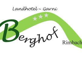 Landhotel Berghof, Rimbach