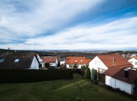 Ferienwohnung mit Fernblick, Kohlberg (Beuren yakınında)