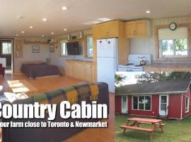 Country Cabin on Farm Near Newmarket Toronto, Schomberg