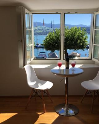 Gemütliche Ferienwohnung Zürichsee, Seeblick, am Hafen Stäfa