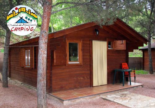 Description for a11y. Camping Ciudad de Albarracin