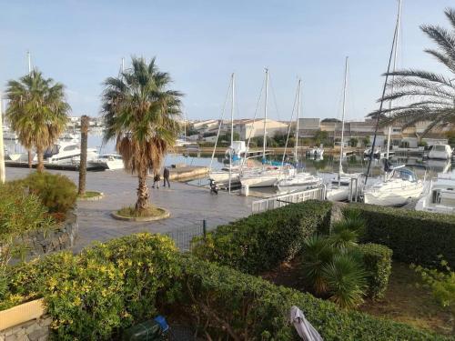 Studio le Cap d'Agde vue port