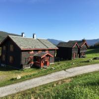 Stor flott tømmer hytte