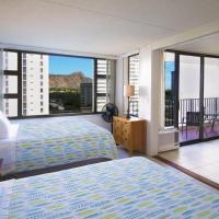 1 Bedroom Condo in the Waikiki Banyan   1 Block from Beach   Parking & WiFi