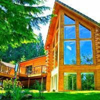 Luxurious Riverfront Log Home Estate